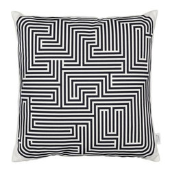 Vitra - Maze Graphic Pillow by Vitra - Puzzled about how to dress up your bed or sofa? Originally created by Alexander Girard in 1961, the maze pattern of the  Vitra Maze Graphic Pillow is intricate and--especially when viewed close up--quite dazzling. It is printed on a smooth 100% cotton cover filled with plush duck half down. Founded in Switzerland in 1950, Vitra produces intelligent and inspiring furniture and accessories for the home, office and other public spaces. Ever mindful of the importance of sustainability in design, Vitra creates furnishings with high quality and versatile style that ensures functional and aesthetic enjoyment for the long term.