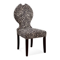 Bassett Mirror Company - Bassett Mirror Parson Chair in Raja Zebra Print [Set of 2] - Parson Chair in Raja Zebra Print belongs to Parson Chair Collection by Bassett Mirror Company The Parsons Chair is constructed using solid hardwood. Parson Chair (2)