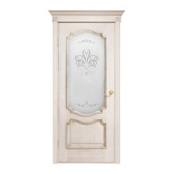 Prestige Ivory French Classic Interior Door With Frosted Glass - Solid white oak interior door with glass. Can be installed as double or single door. Different sizes available. Recommended use: Dining Room, Living Room, Bedroom.Please note, this is a pre-order door. Minimum quantity is 5 doors per order. Delivery time is within 4 weeks.