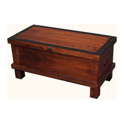 Solid Wood Standing Coffee Table Storage Trunk Chest - The demand for multi-use storage boxes continue to grow because they deliver space, function, and beauty.