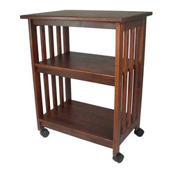 Counter Height Microwave Cart : Wood - Mission Microwave Cart - Features: -TV/Microwave cart ...