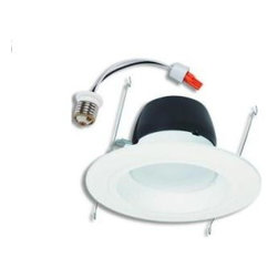 Halo - Halo 5 and 6 in. Recessed Matte White LED Retrofit Baffle and Trim Ring 90CRI 35 - Shop for Lighting & Fans at The Home Depot. This LED is an all-in-one retrofit solution that provides the quality and value Halo is known for. The RL560 all-in-one design integrates the LED, driver, heat sink, lens, baffle and trim in one compact unit. Features a 3500K white light. This lamp is dimmable and is wet location compatible.