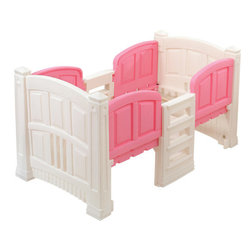Step2 Girls' Twin Loft Bed - I love that this serves dual purposes: toddler bed and storage. After all, who can't use more storage? Plus, it features built-in railings to prevent your child from falling out and comes in a pretty pink and white design.