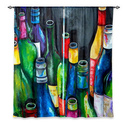 "DiaNoche Designs - Window Curtains Lined by Patti Schermerhorn Wine Collection - Purchasing window curtains just got easier and better! Create a designer look to any of your living spaces with our decorative and unique ""Lined Window Curtains."" Perfect for the living room, dining room or bedroom, these artistic curtains are an easy and inexpensive way to add color and style when decorating your home.  This is a woven poly material that filters outside light and creates a privacy barrier.  Each package includes two easy-to-hang, 3 inch diameter pole-pocket curtain panels.  The width listed is the total measurement of the two panels.  Curtain rod sold separately. Easy care, machine wash cold, tumble dry low, iron low if needed.  Printed in the USA."