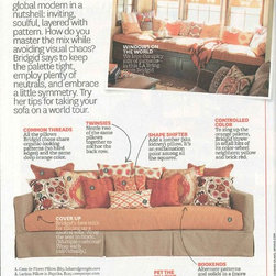 Better Homes and Gardens: The Window Seat - The warm outdoor fabric 8064 Dupione in Nectarine by Sunbrella is featured as the window seat cushion in the 2014 stylemaker edition of Better Homes and Gardens.