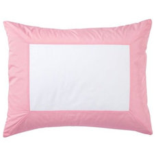 Traditional Pillowcases And Shams Pink Color Frame Standard Sham