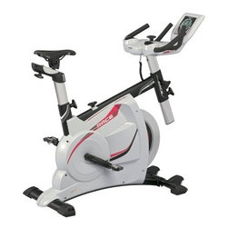"Kettler Race Indoor Cycle Trainer Exercise Bike - This health club quality exercise bike is proven to motivate entertain and endure years of strenuous use. The reinforced zinc coated tubing allow even the largest users to pedal their way to fitness while tracking heart rate energy output and many more important exercise metrics. It is the capability to track your progress and the instant feedback of average values that enables you to progress your fitness to new heights. You will not only look better but feel better too. Winner of the coveted Plus X Award for design Electronic LCD computer display provides high resolution east to read digital workout data including: Time Distance RPM Speed Energy consumption Heart Rate and Resistance level Infrared earlobe clip heart rate sensor included Recovery feature provides grading of cardio wellness ranked 1 to 6 Dual handle bars with rubberized grips and cushioned contoured elbow pads allow for training in an aerodynamic body positioning. Handlebars adjust both fore and aft as well as up and down The contoured cushioned saddle provides comfort while the vertical and horizontal adjustments allow each person to personally customize their positioning Saddle adjusts both fore and aft as well as up and down Powder coated high carbon steel frame Heavy-duty pedal cranks and bottom bracket Combi-Click SPD Pedals Poly- ""V"" Drive belt permits silent operation Transport casters for easy relocating Built-in floor levelers adapt to uneven floors Saddle height to lowest pedal position: Minimum 31"" / Maximum 39"" About Kettler ProductsThis item is manufactured by Kettler. Throughout the world Kettler is a leading brand in leisure furniture sports and fitness equipment table tennis tables bicycles and children's outdoor toys. Since 1949 the company has grown from a small enterprise in Heinz Kettler's home town of Ense-Parsit in Germany into a world-wide manufacturing and marketing organization. Heinz Kettler has always remained true to the """"Made in Germany"""" quality principle and it is still the central pillar of the company's management philosophy. This means that even after 50 years of trading all over the world most of the factories and particularly the most important ones are still in Germany."