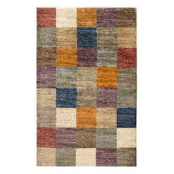 Home Decorators Collection - Cariboo Area Rug - The Cariboo Area Rug from the Naturals Collection is a cornucopia of color that instantly brightens any room. Hand-woven with 100% hemp, this natural fiber area rug features blocks of red, ivory, blue, purple, taupe and orange which are quilted in a compelling grid design. Hand-woven with 100% hemp. Durable and resistant to wear and tear.