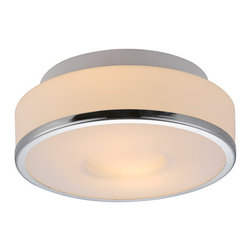 Bromi Design - Bromi Design Lynch Opal w/Chrome Ring Flush Mount Ceiling Light - Decorate your house with this gorgeous looking Bromi Design Lynch Opal w/Chrome Ring Flush Mount Ceiling Light