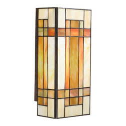 Kichler - Kichler 69004 Stained Glass / Tiffany Two Light Wall Sconce Art Glass - Kichler 69004 Tarlton Wall Sconce
