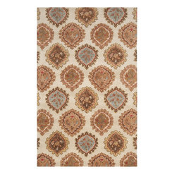 Surya - Surya LAG1011-23 Langley Rug - Available in five colors, the Langley Collection is a classic traditional pattern.  These rugs are hand tufted from 100% wool and feature a hard twist texture.