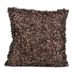 "Concepts Life - Concepts Life Hand Made Shag Pillow  Warm Embrace  Brown - These hand made pillows add shimmer, warmth, and texture to any space, and bring an accent of understated luxury to your home.  Hand-made Materials: Polyester cover with poly filler Spot clean Dimensions: 18""h x 18""w Weight: 1.5 lbs Pillow arrives in a vacuum sealed bag Once the pillow is aired and fluffed it will regain its full, soft and plump shape"