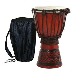 X8 Drums - X8 Drums Celtic Labyrinth Djembe Drum with Tote Bag - X8-DJ-CELTIC-XS - Shop for Toy Instruments from Hayneedle.com! The X8 Drums Celtic Labyrinth Djembe Drum with Tote Bag is a great choice for little drummers just learning about rhythm. This beautiful instrument is made from a soild piece of mahogany and is adorned with a Celtic labyrinth carving. You'll want to keep this one safe and luckily it comes with a tote bag to do just that! About X8 DrumsX8 Drums truly walks to the beat of their own drum. This family-owned company is committed to providing the best selection of high-quality musical instruments with an emphasis on world music percussion instruments. X8 Drums has certainly helped champion ethnic hand drums in the digital age thanks to its founders - a New York City rocker and an internet sage.