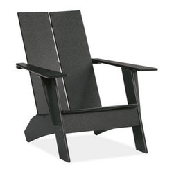 Emmet Lounge Chair | Room and Board - A modern take on the symbol of rustic American relaxation. Each chair is made from the equivalent of 400 recycled milk jugs. Durable, comfortable and easy to care for, Emmet will transform your idea of outdoor living.