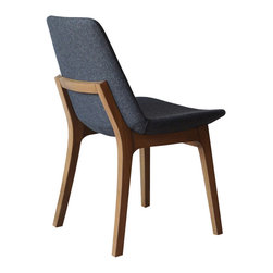 Eiffel Wood Chair by sohoConcept - Cradled atop a sturdy (and beautiful) wood base, this gently curved upholstered shell seat is design perfection in modern chair. An added bonus is the cool array of colors available for the Eiffel Wood Chair.