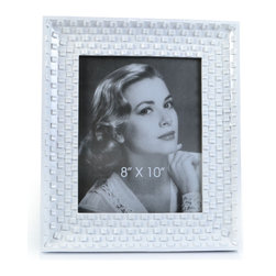 "Concepts Life - Concepts Life Photo Frame  Family Stone  8x10"" - Our take on a classic white frame, with a modern twist. The white pebbled surface adds texture and depth while the glossy finish makes your photos look radiant.  Modern home accent Contemporary white picture frame Beautiful and elegant home accent Rectangular photo frame Made of polyresin Easel back for horizontal or vertical display Various sizes available Textured glossy finish Holds 8 x 10 in. size photo Dimensions: 12""w x 14""h x 1""d Weight: 3 lbs"