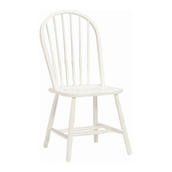 Bolton Furniture - Bolton Bow Back Chair in White Finish - Solid frame construction-built to last. Made of solid wood. 1-Year warranty against manufacturing related issues. 20 in. W x 17 in. D x 35 in. H