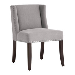 Low Back Wing Dining Chair in Fabric - Low Back Wing Dining Chair in Fabric
