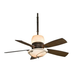 Fanimation Fans - Leaf Ceiling Fan by Fanimation Fans - The Fanimation Leaf Ceiling Fan, a Hubbardton Forge design, provides satisfying air circulation and inviting illumination. The Leaf Fan is created using an environmentally sound finishing system.Fanimation, an acknowledged ceiling fan industry leader, creates and produces refreshingly innovative ceiling fans for a wide variety of venues. Fanimation's founder, Tom Frampton, who began Fanimation in his Indiana garage, travels the world for inspiration.The Fanimation Leaf Ceiling Fan is available with the following:Included Features : Bronze body finish and Coffee blade finish.One ceiling canopy suitable for installation on flat ceilings and sloped ceilings up to 30 degrees.Five wood blades, 54 in. overall diameter.15 degree blade pitch.White wireless hand-held fan and light remote control with 3 speeds in forward and reverse and continuous light dimming.One 6 in. downrod.One upper Stone glass diffuser and one lower Stone glass diffuser.Limited lifetime motor warranty.Fan Speed RPMs: Low-68, Medium-124, High-163.UL Listed.Lighting: Upper light utilizes three 40 Watt 120 Volt Candelabra lamps (included). Lower light utilizes three 60 Watt 120 Volt Candelabra lamps (included). Sold Separately: