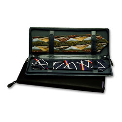 Budd Leather - Leather Zippered Tie Case Black - This listing contains only one case.