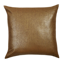 """Mystic Valley - Mystic Valley Traders Radiance Copper - Euro Sham B with Insert - The Radiance Copper Euro sham B is fashioned from the Glimmer Copper fabric on each side, and finished with a clean edge; sold with polyester microfiber insert; 26""""x26""""."""