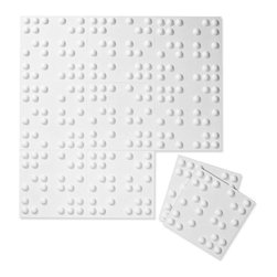Inhabit - Inhabit Braille Wall Flats Set of 10 - Forgo drywall and folding screens and install these lightweight dimensional wall tiles, creating sculptural walls anywhere you want them in your home. This wall option is both chic and functional, and you'll love the pleasing three dimensional pattern the dots make. Each panel is molded from bagasse, a renewable resource, making this an easy, ecofriendly choice for your home.