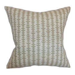 The Pillow Collection - Jiri Blue 18 x 18 Geometric Throw Pillow - - Pillows have hidden zippers for easy removal and cleaning  - Reversible pillow with same fabric on both sides  - Comes standard with a 5/95 feather blend pillow insert  - All four sides have a clean knife-edge finish  - Pillow insert is 19 x 19 to ensure a tight and generous fit  - Cover and insert made in the USA  - Spot clean and Dry cleaning recommended  - Fill Material: 5/95 down feather blend The Pillow Collection - P18-D-21047-DOVE-C100