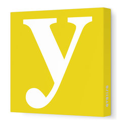"Avalisa - Letter - Lower Case 'y' Stretched Wall Art, 12"" x 12"", Dark Yellow - Spell it out loud. These lowercase letters on stretched canvas would look wonderful in a nursery touting your little one's name, but don't stop there; they could work most anywhere in the home you'd like to add some playful text to the walls. Mix and match colors for a truly fun feel or stick to one color for a more uniform look."