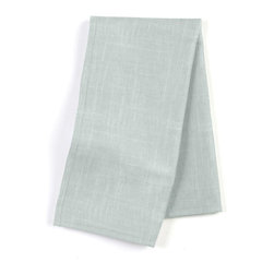 "Pale Gray Lightweight Linen Custom Napkin Set - Our Custom Napkins are sure to round out the perfect table setting""""_whether you're looking to liven up the kitchen or wow your next dinner party. We love it in this luxurious lightweight linen blend with characteristic slubs in cool light gray.  linen cotton blend will resist wrinkles."