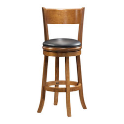 "Boraam - Boraam Palmetto 29"" Bar Height Swivel Stool in Fruitwood - Boraam - Bar Stools - 45129"