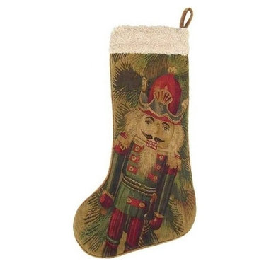 "EuroLux Home - New 13.5""x20"" Christmas Stocking Nutcracker - Product Details"