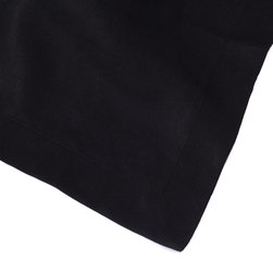 Huddleson Linens - Black Linen Table Runner - Transform your mealtime moments into memories with this modern, heirloom-worthy table runner. Soft and versatile, the Italian linen will improve over time with proper care. Your family will relish its simple grace and ease, and you'll love getting to dress it up with your fine china and silverware.