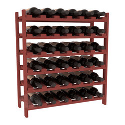 Wine Racks America - 36 Bottle Stackable Wine Rack in Ponderosa Pine, Cherry - A pair of discounted wine racks allow double wine storage at a low price. This rack accommodates all 750ml bottles, Pinots and Champagnes. The quintessential DIY wine rack kit. Your satisfaction is guaranteed.