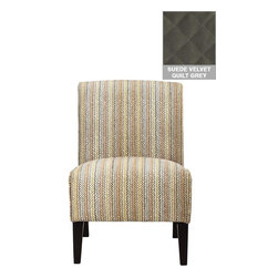 Home Decorators Collection - Audrey Slipper Chair - Place our versatile Audrey Slipper Chair in your living room, family room or dining room to refresh your decor and add to your seating options. This sleek accent chair is available in a variety of fabrics. The sleek, armless profile is set off by stylishly tapered legs. Hardwood legs in espresso finish. Sleek armless profile.