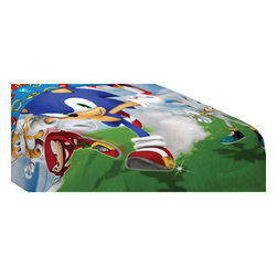 Franco Manufacturing Company Inc - Sonic Hedgehog Speed Video Game Twin Bed Comforter - FEATURES: