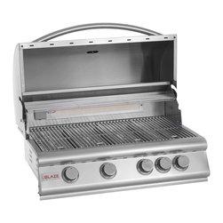 Blaze - Blaze 32-in 4 Burner Built-in Grill | LP - *4 commercial quality 304 cast stainless steel burners