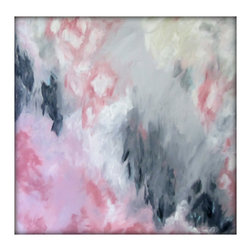 Abstract Original Painting on Canvas Modern Acrylic Painting - 36x36 - Pink and - Original Abstract - Acrylic on Canvas