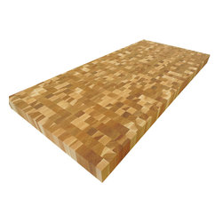 Armani Fine Woodworking - End Grain Hickory Butcher Block Countertop - Armani Fine Woodworking End Grain Calico Hickory Butcher Block Countertop