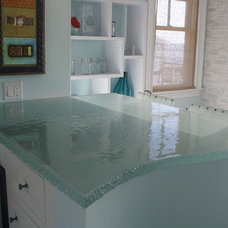 Contemporary Kitchen Countertops by Lucid Glass Studio
