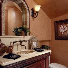 Mediterranean Bathroom by The Fechtel Company