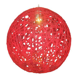 Funmi Adeshina - Rose of Sharon Pendant Lighting, Red - Rose of Sharon lightings are made of natural resources. Designed by Funmi Adeshina.  The lightings are each hand made .They have elegant look that will create style to your home, offices or business places, amazing in every room.