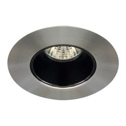 """Contrast Lighting - T3450K Downlight Non Adjustable Low Profile Trim by Contrast Lighting - The Contrast Lighting T3450K Downlight Non Adjustable Low Profile Trim comes in a variety of finish and reflector combinations and features a 2.63"""" opening for low voltage halogen lighting. The metal trim lies practically flush against the ceiling. Pair with any Contrast Lighting 3000 series housing. Contrast Lighting, founded in 1989 and headquartered in Quebec, manufactures top-quality lighting for the North American market, with a special emphasis on halogen recessed lighting fixtures."""