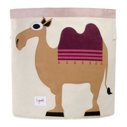 3 Sprouts - 3 Sprouts Storage Bin, Camel - Help your kids clean up their acts with our cute camel pattern animal storage bins in sand from 3 Sprouts . This bin is well sized for storing toys or as a laundry hamper. The bin collapses for easy storage when not in use. It is made up of 100% cotton canvas and coated on the inside for easy cleaning. It is the perfect gift for babies and toddlers.