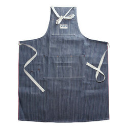 Stronghold Hickory Stripe Apron - This is the epitome of an old-school rugged apron designed and sewn in the U.S. with hickory-striped selvage denim. It's a keeper.