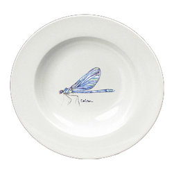 Caroline's Treasures - Dragonfly Round Ceramic White Soup Bowl 8865-SBW-825 - Dragonfly Round Ceramic White Soup Bowl 8865-SBW-825 Heavy Round Ceramic Soup Bisque Gumbo Bowl 8 3/4 inches. LEAD FREE, microwave and dishwasher safe. The bowl has been refired over 1600 degrees and the artwork will not fade or crack. The Artwork for this gift product and merchandise was created by Sylvia Corban copyright and all rights reserved.