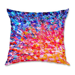 DiaNoche Designs - Pillow Linen - Julia Di Sano The Clash II - Add a little texture and style to your decor with our Woven Linen throw pillows. The material has a smooth boxy weave and each pillow is machine loomed, then printed and sewn in the USA.  100% smooth poly with cushy supportive pillow insert with a hidden zip closure. Dye Sublimation printing adheres the ink to the material for long life and durability. Double Sided Print, machine wash upon arrival for maximum softness. Product may vary slightly from image.