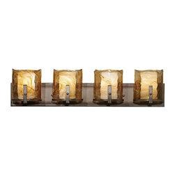 Murray Feiss - 4 Bulb Roman Bronze Vanity Strip - - UL Damp Approved.