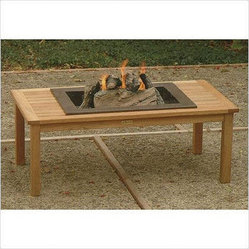 "Tuscan 48"" Rectangular Fireplace Coffee Table"