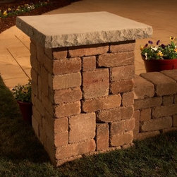 Necessories Lakeland Pillar - Please note: This item does not include to-the-door delivery. This item includes curbside delivery.Give a finished look to your outdoor wall with the Necessories Lakeland Pillar. Made of durable stone, this pillar can withstand all that nature has to offer. It's designed with tumbled rock to create an aged look on the concrete blocks. For a customized look, you can pick from an array of colors to find the perfect match for your backyard. Assembly is made simple and this pillar builds in an afternoon. The kit comes with all needed materials included pre-cut concrete block sized to fit, steel reinforcements, Super-Stik adhesive, gloves, and easy-to-read instructions.Note: Review any building restrictions or construction permit requirements before installation of an outdoor fireplace. Contact your local zoning commission/homeowners association for details.About NecessoriesNecessories is a third generation family business based in Rochester, Minnesota. Necessories has a solid foundation in mortarless concrete manufacturing and construction that dates back to 1914. They are recognized as an innovator of attractive, high-quality landscape construction materials. Necessories is a collection of Outdoor Living Kits. This is a unique line of outdoor living kits that make hardscaping affordable and easy. Each kit comes packaged with all you need to build including pre-cut concrete block, Super-Stik adhesive, and easy to read course by course assembly instructions. These outdoor living kits require no cutting, no guessing, no hassles -- no problem.