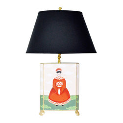 Empress Lamp - Pair this Empress lamp with the matching Emperor lamp on a sideboard or bedside tables.